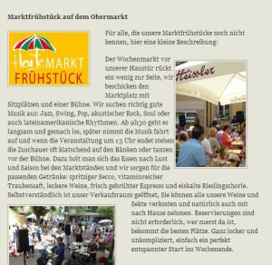 Weingut Heissler Bad Dürkheim am Obermarkt - jeden ersten Samstag im Monat von April bis September!